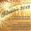 Silvester 2018 im Vereinsheim